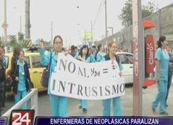 Enfermeras del INEN paralizaron sus labores por 24 horas