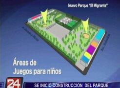 La Victoria: se inició construcción del Parque El Migrante en La Parada