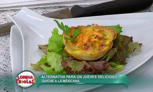 Aprende a cocinar un nutritivo quiche a la mexicana con la chef Miriam Punchin
