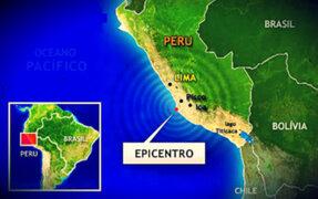 En Lima y Sur del Perú se han reportado tres sismos