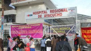 Ayacucho: médicos y trabajadores festejan fiesta dentro de Hospital Regional