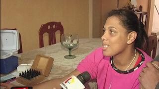 Izabot Bravo recibió ayuda médica y fue sometida a examen de alergia