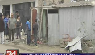 SJM: taxi se empotró en vivienda y dejó gravemente herida a madre de familia