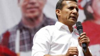 Ollanta Humala llama a todas las fuerzas políticas a participar de diálogo el lunes