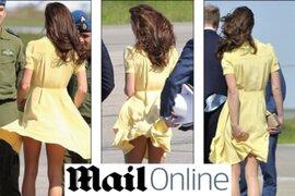 El viento le jugó 'en contra' a la princesa Catalina de Cambridge