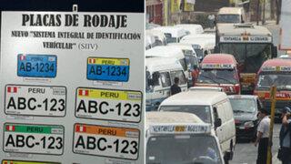 Ministerio de Transporte amplió plazo para cambio de placas