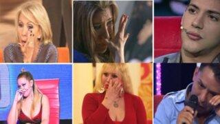 Los personajes de la farándula que alguna vez lloraron en televisión