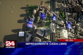 EEUU: mira la impresionante caída libre grabada desde una cámara Go Pro