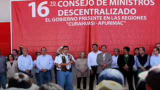 Presidente Humala anuncia inversión de S/. 3400 millones para Apurímac