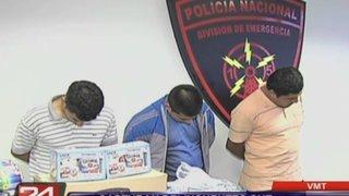 La policía capturó a tres avezados delincuentes que robaron furgoneta en VMT
