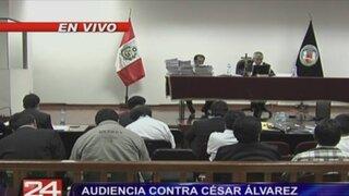 Continúa audiencia que definirá situación de César Álvarez
