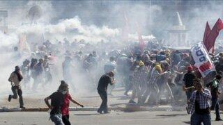 Turquía: reprimen manifestación en aniversario de protestas contra el gobierno