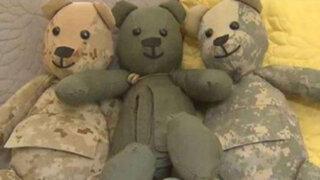 Estados Unidos: mujer hace osos de peluche con uniforme de hijo fallecido