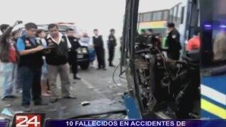 Provincias: 11 muertos tras accidentes de carretera durante el fin de semana