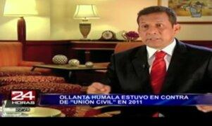 Presidente Ollanta Humala Tasso no opinó sobre el tema de la unión civil