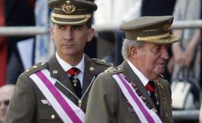Rey Juan Carlos y príncipe de España aparecieron juntos tras abdicación