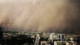 VIDEO: tormenta de arena gigante mató a cuatro personas en Irán