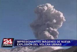 Arequipa: registran impresionantes imágenes de explosión del volcán Ubinas