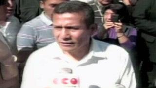 """Ollanta Humala sobre regiones: """"Tenemos que unirnos contra la corrupción"""""""
