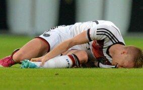 Marco Reus sufrió grave lesión y se perderá el Mundial de Brasil 2014