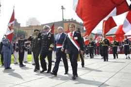 Presidente Humala participó en ceremonia por el Día de la Bandera del Perú