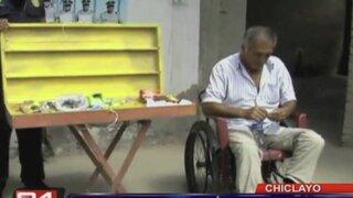 Chiclayo: hombre con discapacidad vendía droga en puerta de colegios