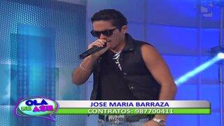José María Barraza hizo bailar al público de Ola ke Ase con su tema 'Tiéntame'