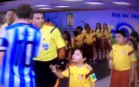 Messi respondió a las críticas por no saludar a niño previo del partido mundialista
