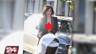 Kim Kardashian lució escote de infarto en las calles de Nueva York