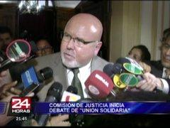 Congreso inicia debate sobre polémica ley llamada 'Unión Solidaria'