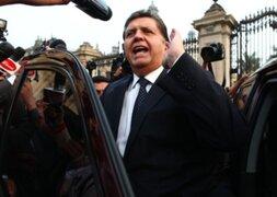 Abogado de Alan García aseguró que ex presidente no será inhabilitado