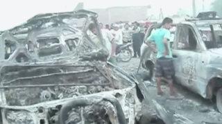 Dos policías heridos y patrulleros quemados por protestas en Juanjuí