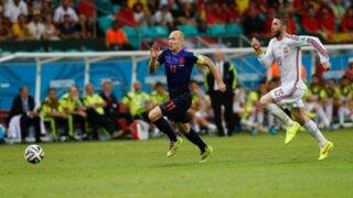 Arjen Robben corrió a 37 Km por hora en el duelo de Holanda contra España