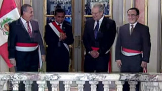 Ollanta Humala tomó juramento sorpresivamente a tres nuevos ministros