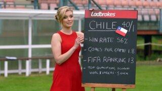 Presentadora británica pronosticó la victoria de Chile en el Mundial Brasil 2014