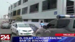 Trujillo: delincuentes se llevan computadoras de base central de Serenazgo