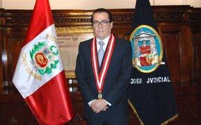 Titular del Poder Judicial mostró su malestar ante preguntas por caso Orellana