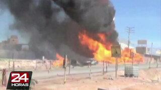 Al menos 15 personas resultaron heridas tras explosión de camión cisterna