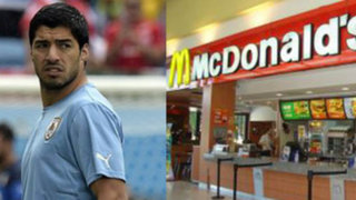 Brasil 2014: McDonald's pide a Luis Suárez dar mordisco a sus hamburguesas