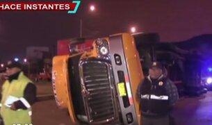 Callao: joven conductor originó volcadura de trailer por excesiva velocidad