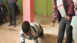 Rondas de Cajamarca azotaron a presunto secuestrador de niña de 13 años