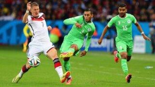 Alemania venció 2-1 a Argelia en tiempo extra y ya está en cuartos de final