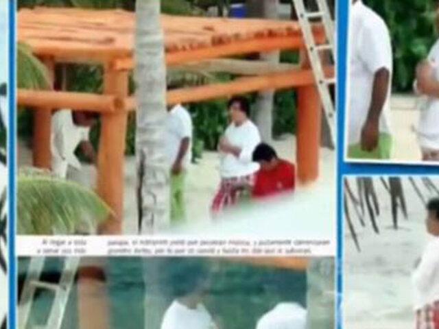 Juan Gabriel se recuperó de la neumonía y disfruta de las playas mexicanas