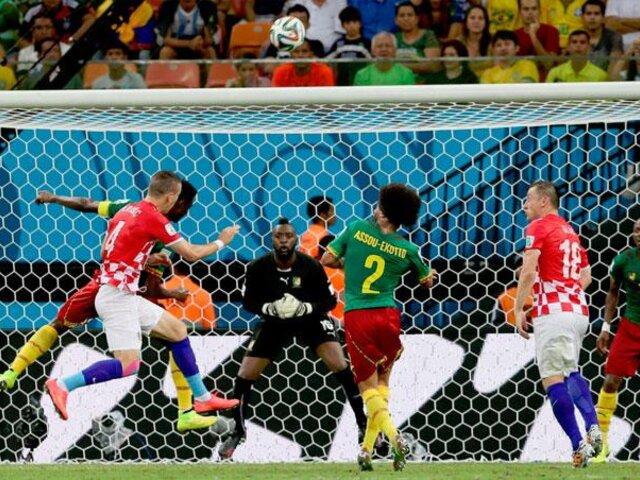 Brasil 2014: Croacia goleó 4-0 a Camerún y sigue con vida en el Grupo A