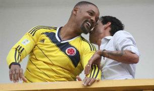 Will Smith se puso la camiseta de Colombia en un concierto de Marc Anthony