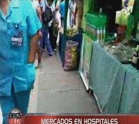 Comas: un mercado funciona en el interior del hospital Sergio Bernales de Collique