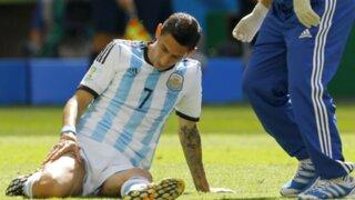 Ángel Di María se perderá el resto del Mundial Brasil 2014 por lesión