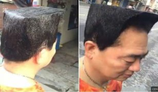 FOTOS: la romántica razón detrás del excéntrico peinado de este hombre