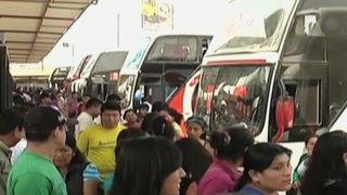 Iniciaron campaña multisectorial 'Prepárate y viaja seguro' por Fiestas Patrias