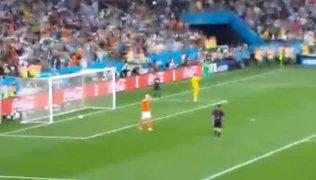 ¿Fue gol?: polémica en torno al primer penal fallado por Holanda ante Argentina